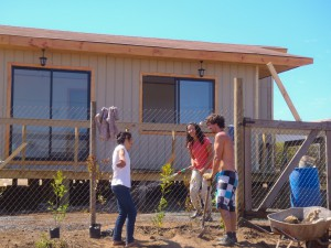Building houses in Chile