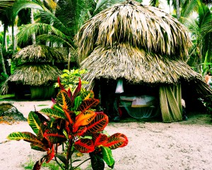 Beautifully basic beach huts