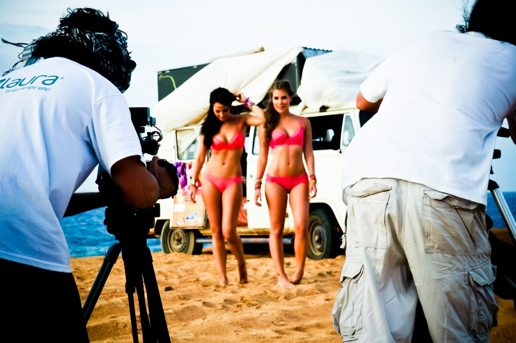 Bikini modelling shoot