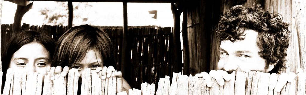 Having fun with Wayuu kids
