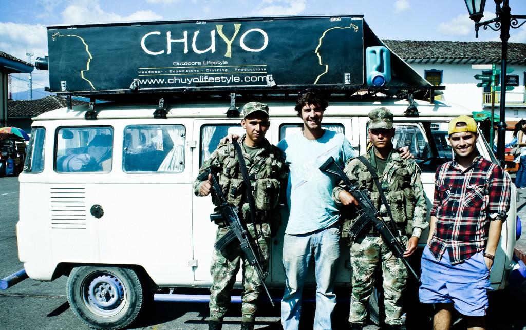 Friendly national guard keeping the FARC at bay