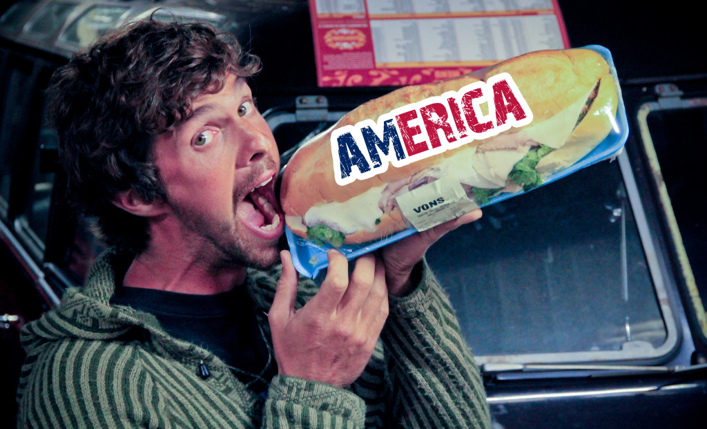 America - Home of the 4-Meal-Sandwich