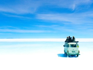 The world's largest salt flat, Bolivia
