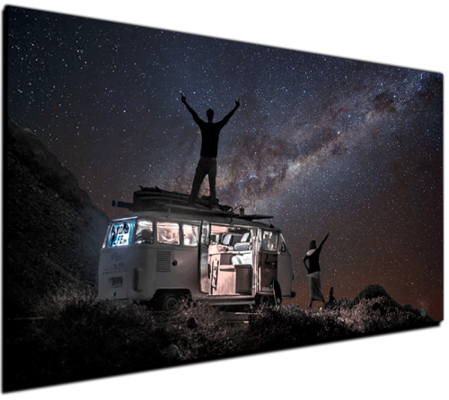 Milkyway VW BUS - Canvas Print