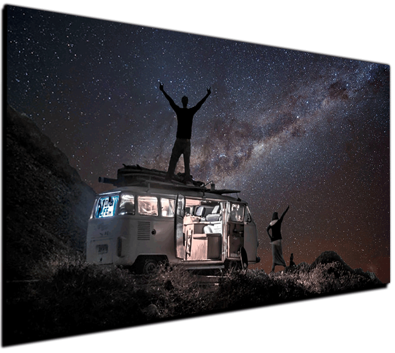 milkyway vw bus high quality print kombi life. Black Bedroom Furniture Sets. Home Design Ideas