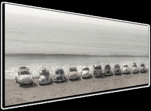 VW Classic - Beetle & Bus - Canvas Print