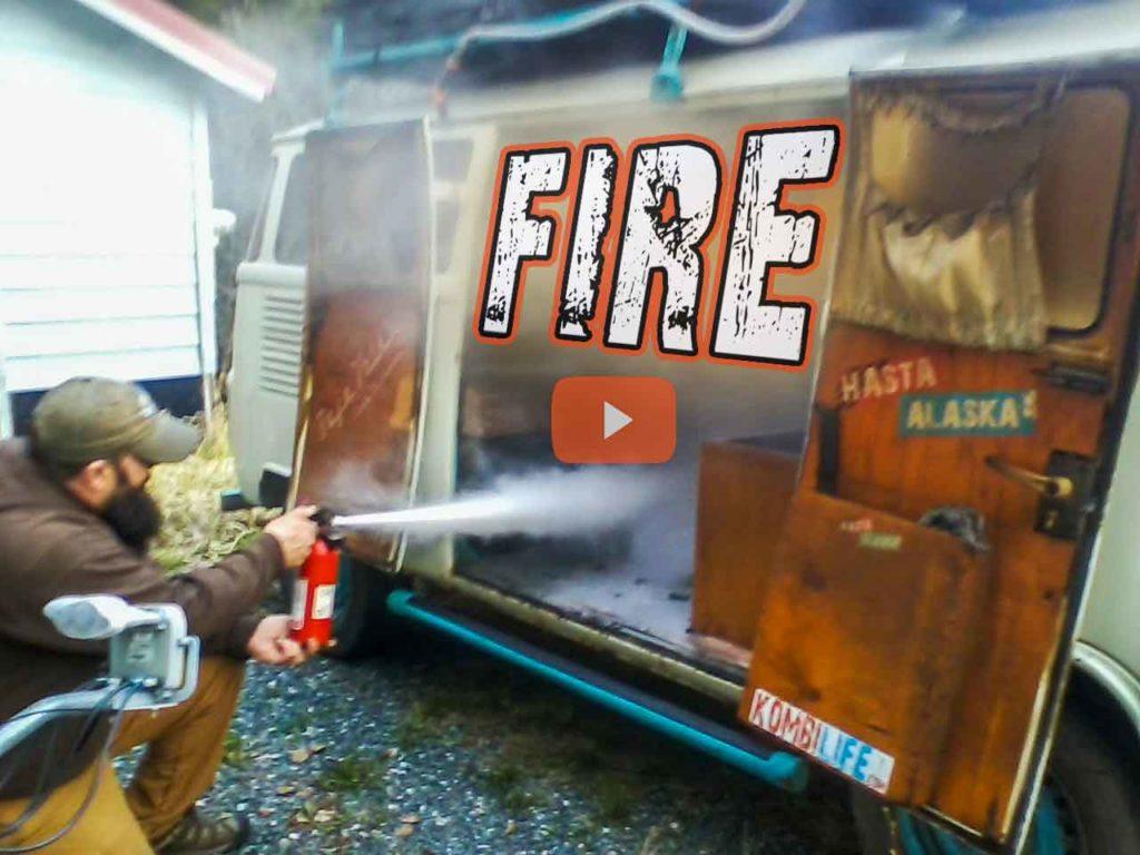 Fire in VW Bus