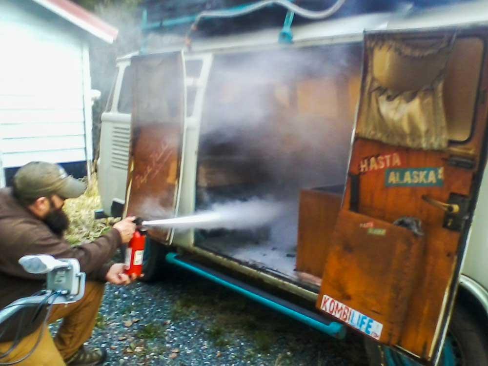 vw bus fire