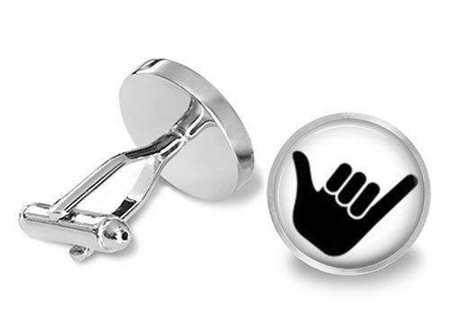surfer cufflinks