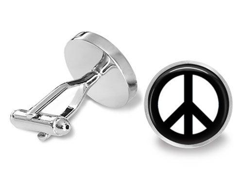 peace sign cufflink
