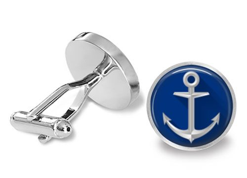 sailing anchor cufflinks