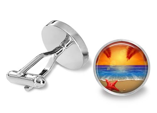 sunset beach cufflinks