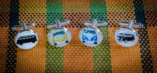 vw bus cuff links