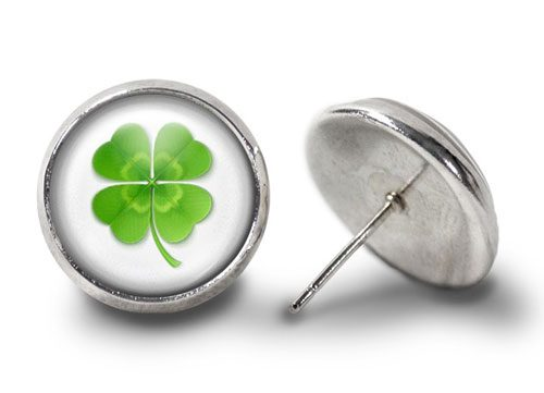 Four Leaf Clover Earrings Silver