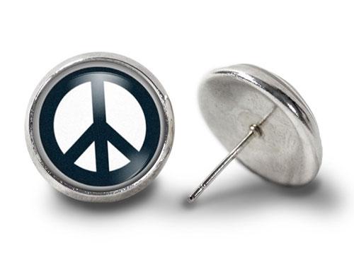 Peace-Earrings-Silver