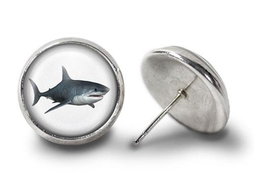 Shark-Earrings-Silver