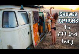 Van Life Shower Options // For Off-Grid Living