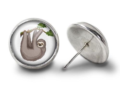 Sloth-Earrings-Silver