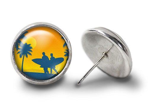 Surfer-Earrings-Silver