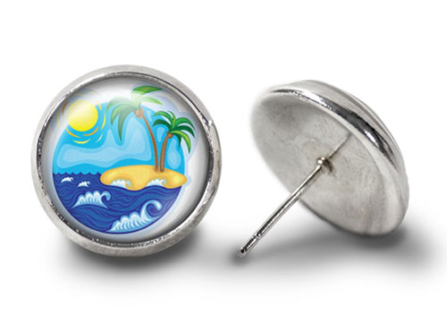 Tropical-Island-Earrings-Silver