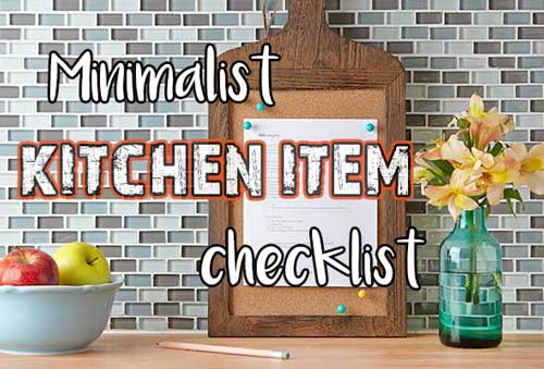 title | Minimalist Kitchen List