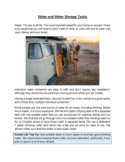 Van Life Guide - Sample Page