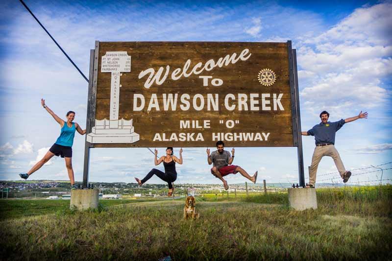Dawson Creek, Mile ZERO of the Alaska Highway