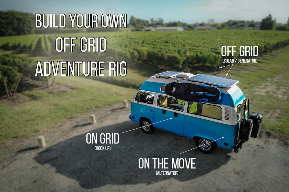 how to build an van electrical system for off grid living