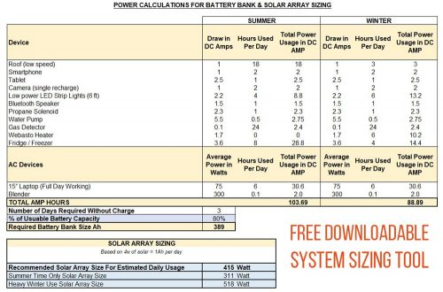 Electrical-System-sizing-tool