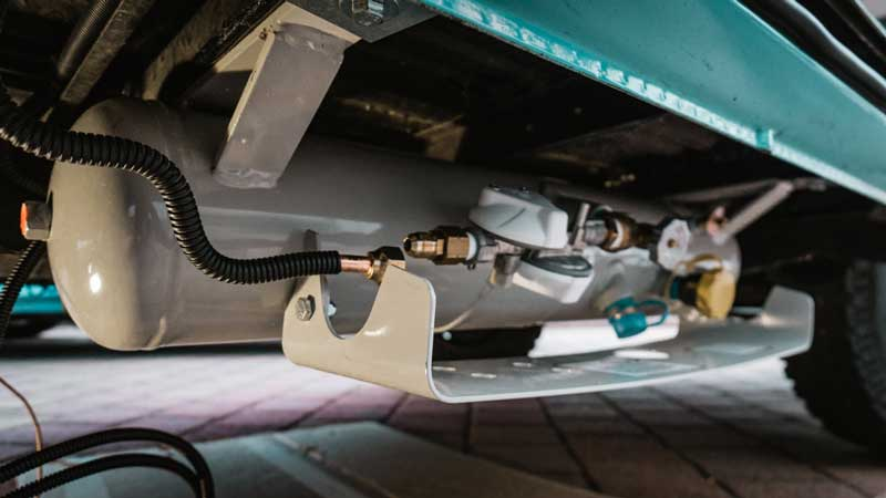 campervan underslung propane tank
