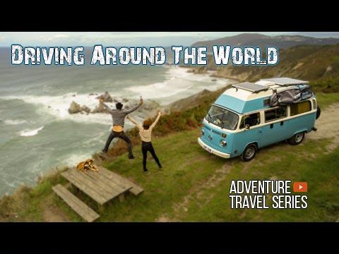 Driving around the world travel series